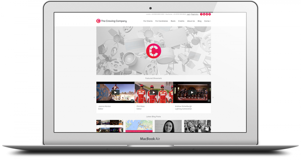 The Crewing Company | Brand & Web design agency London | SEO services