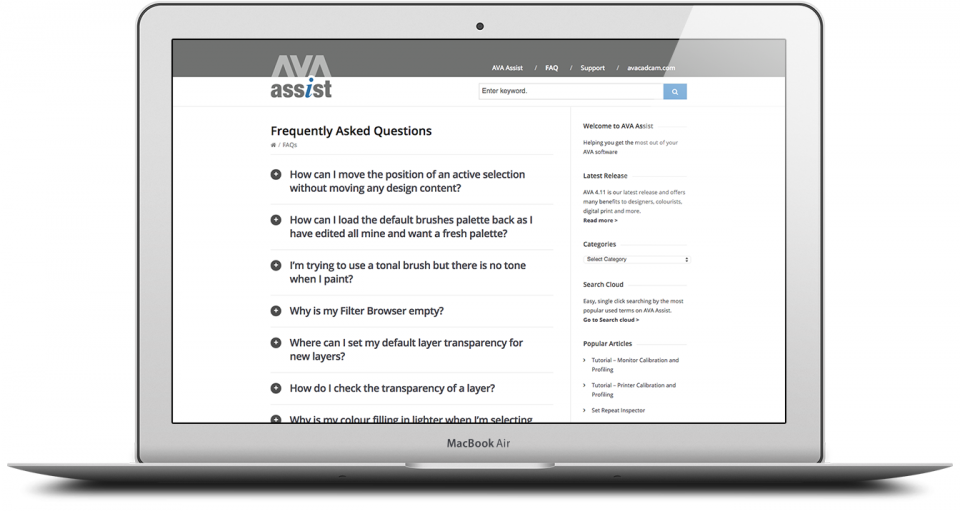 AVA FAQ Website Design London 3