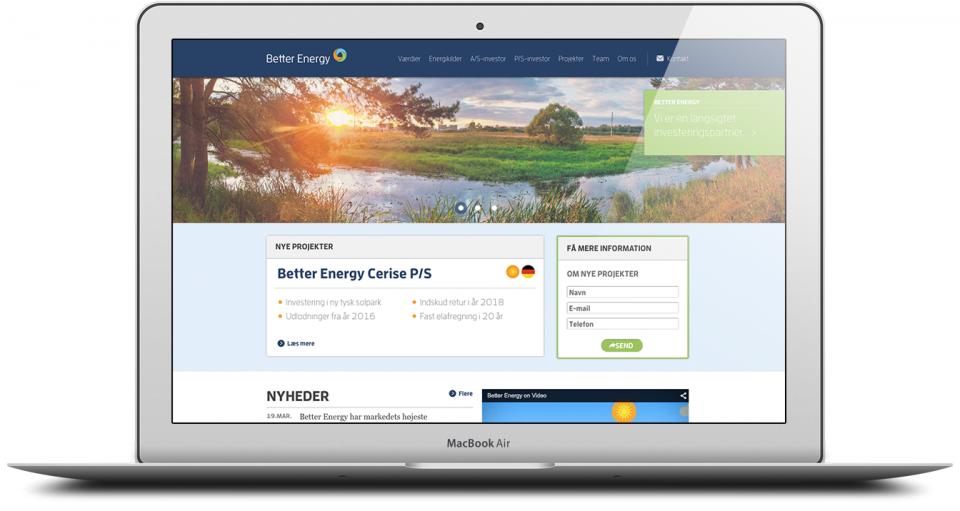 Website Development and Design London Agency - Better Energy Image 1