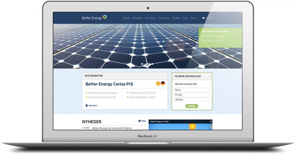 Website Development and Design London Agency - Better Energy Image 2