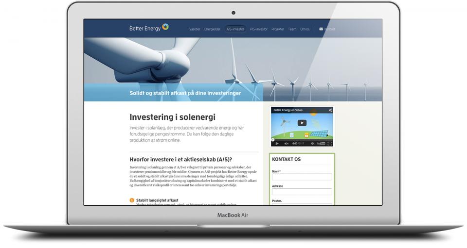 Website Development and Design London Agency - Better Energy Image 4