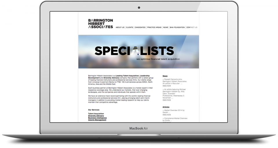 BHA Website Production Agency London Image 1