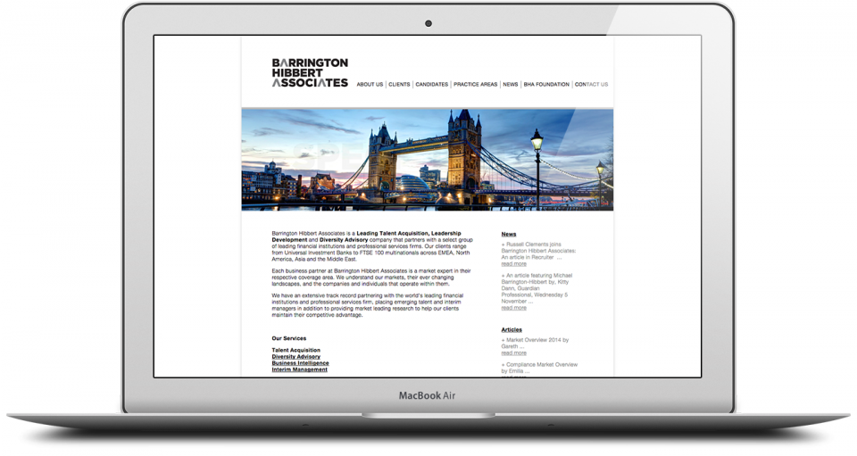 BHA Website Production Agency London Image 2
